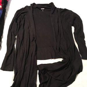 Black sweater wrap